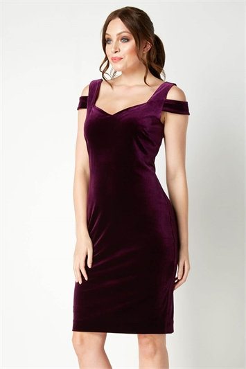 Velvet Cold Shoulder Dress