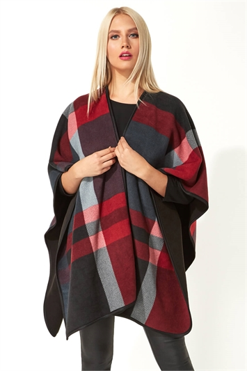 Check Print Fleece Wrap