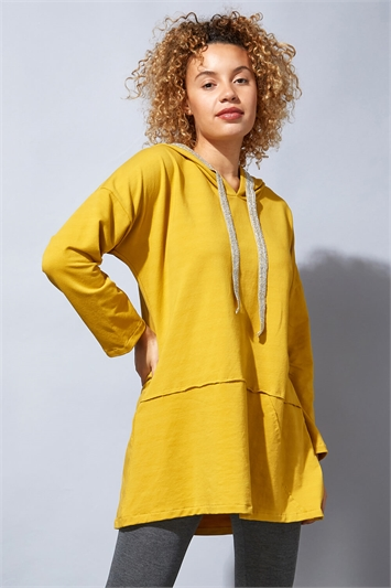 Long Sleeve Hooded Lounge Tunic