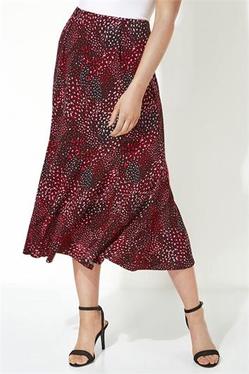 Panel Spot Midi Skirt