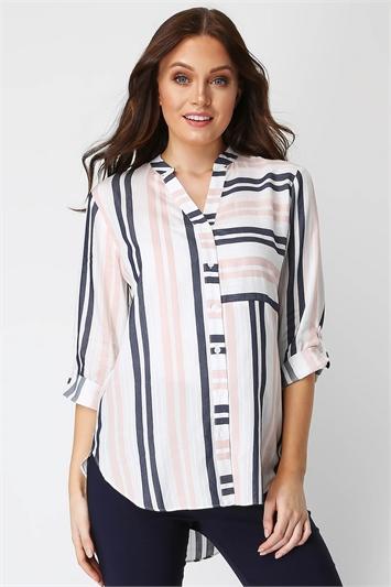 Contrast Stripe Overshirt