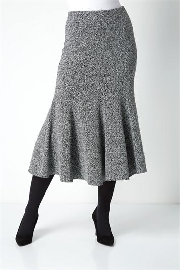 Texture Flared Skirt