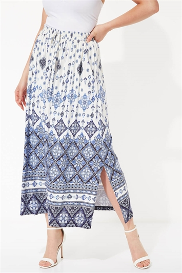 Boho Border Maxi Skirt
