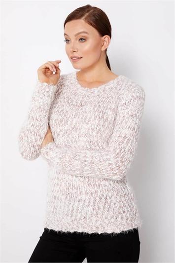 Pink Fluffy Yarn Jumper