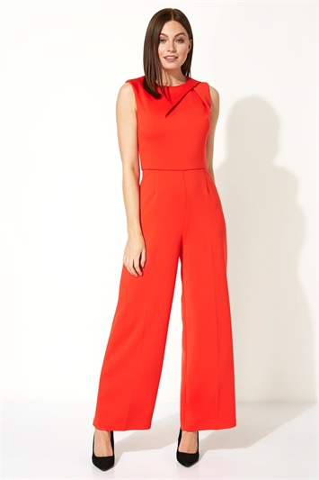 Shoulder Pleat Jumpsuit