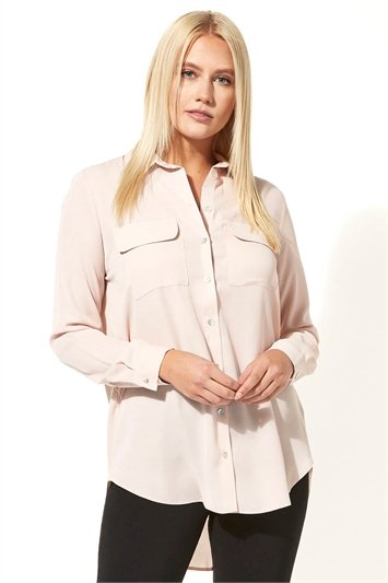 Utility Button Shirt with Pockets