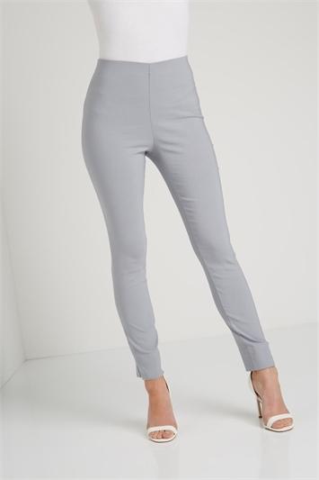 Light Grey Full Length Stretch Trouser, Image 1 of 5