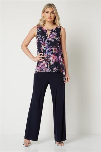 Floral Chiffon Jumpsuit