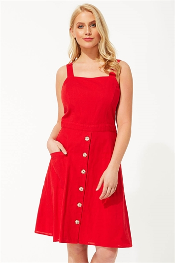 Fit and Flare Button Dress