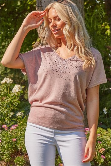 Scatter Hotfix Knitted T-Shirt