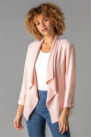 Waterfall Roll Sleeve Jacket
