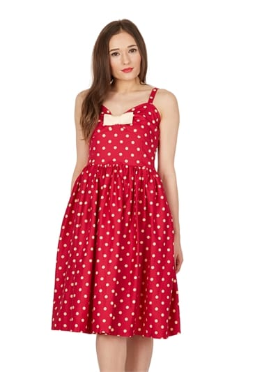 Misty Polka Swing Dress