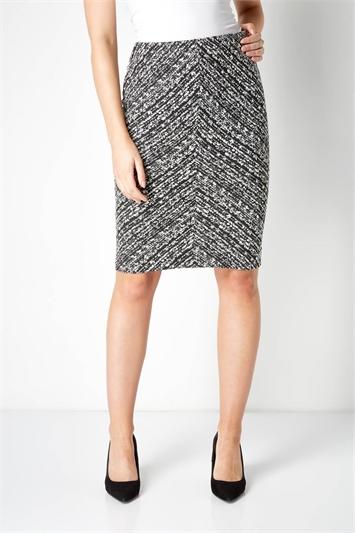 Textured Chevron Skirt