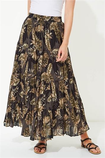 Safari Print Maxi Skirt