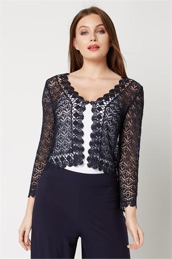 3/4 Sleeve Crochet Shrug