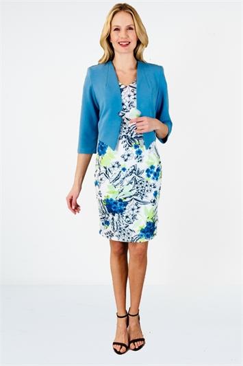 Blue Glitz Plain Jacket, Image 1 of 1