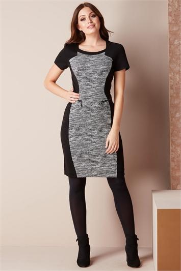 Ponte Contrast Dress