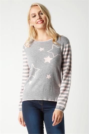 Long Sleeve Star Print Jumper