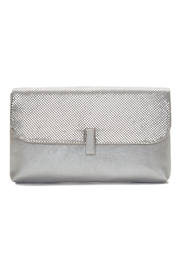 Twist Lock Chain Mesh Clutch