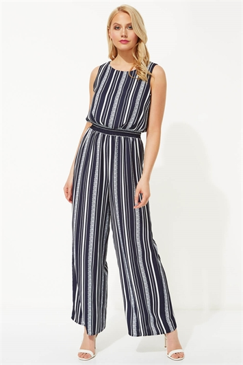Stripe Elasticated Waist Jumpsuit
