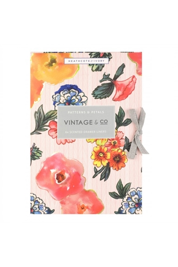 Multi Heathcote & Ivory - Vintage & Co Patterns & Petals Scented Drawer Liners