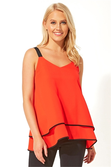 Overlay Sleeveless Top