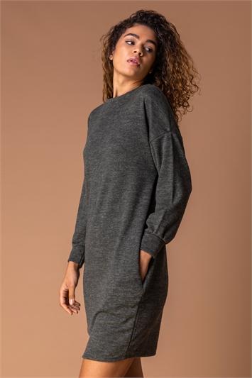 Forest Cocoon Jersey Pocket Dress