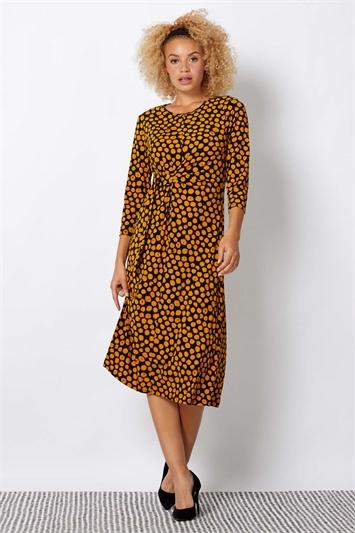 Spot D Ring Midi Dress