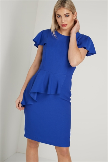 Frill Waist Detail Shift Dress