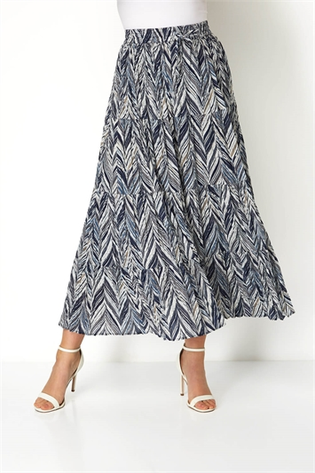 Chevron Tiered Maxi Skirt