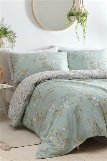 King Size Yasmina Duck Egg Duvet Cover Set