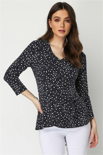 Side Ruched Wrap Top
