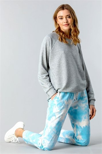 Turquoise Tie Dye Lounge Joggers