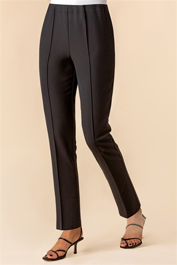Black Soft Jersey Tapered Trouser , Image 1 of 4