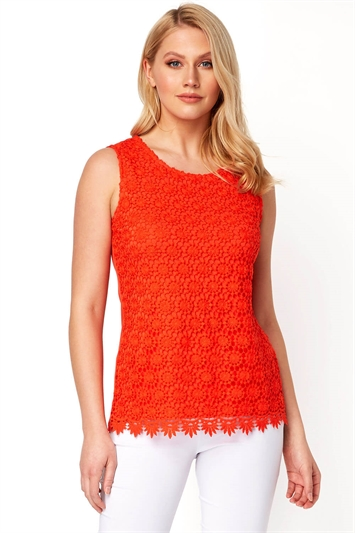 Lace Jersey Top