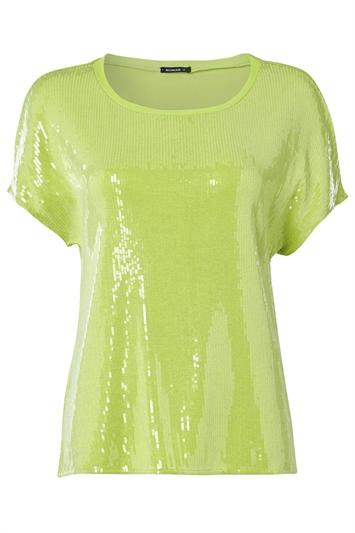Sequin Embellished Front T-Shirt