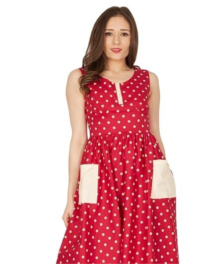Cora Polka Swing Dress