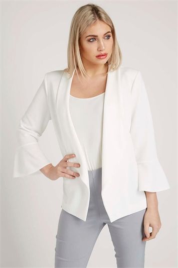 Flute Sleeve Waterfall Jacket