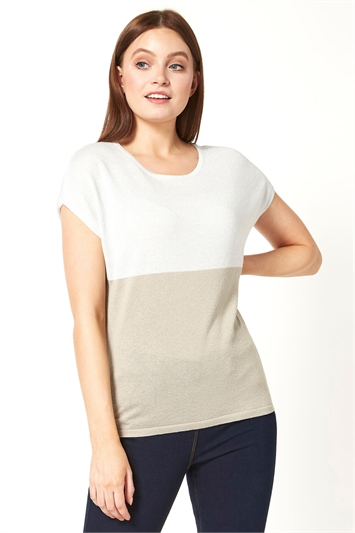 Colour Block Knit T-Shirt