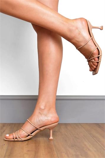 Patent Strappy Kitten Heels