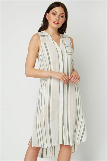 Stripe A line Shift Dress