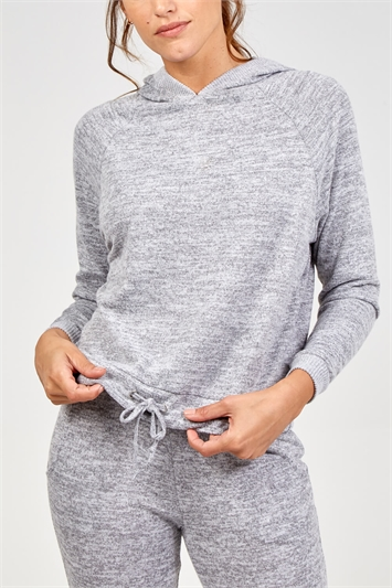 Tie Front Hooded Lounge Top