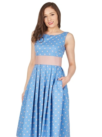 Lana Dream Polka Swing Dress