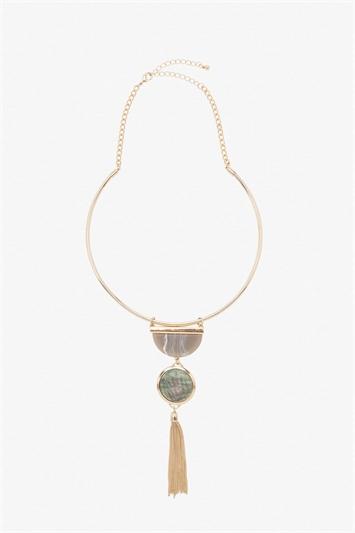 Collar Geo Tassel Necklace