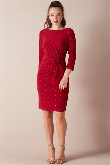 Embellished Twist Waist Dress