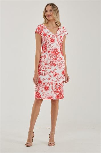 Julianna Floral Print V-Neck Dress