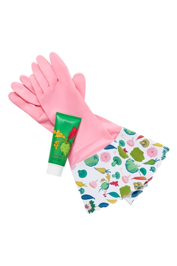 Heathcote & Ivory - RHS Home Grown Washing Up Gloves & Hand Cream Set