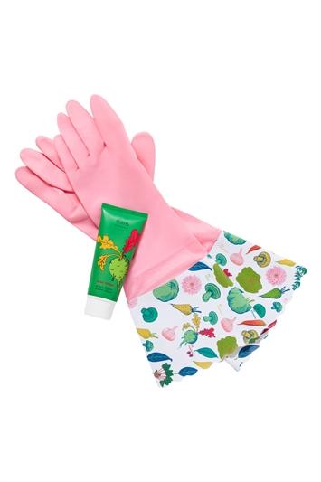 Heathcote & Ivory - RHS Home Grown Washing Up Gloves & Hand Cream Set