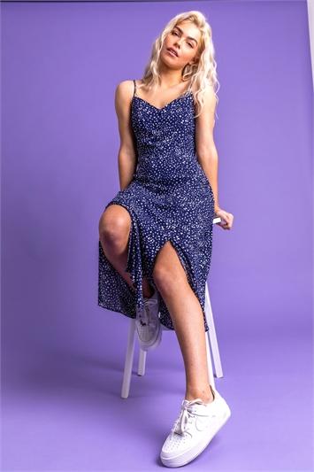 Confetti Spot Print Midi Dress