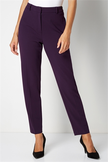 Plum Straight Leg Tapered Trouser, Image 1 of 4